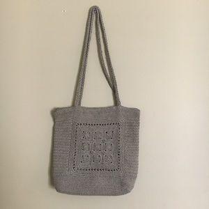•Vintage• 90's Tan/Brown Knit Strap Purse Bag